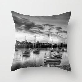 Monochrome Sunset Throw Pillow