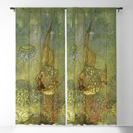 """""""The Pearl of the Fish"""" by Edmund Dulac Blackout Curtain"""