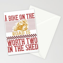 A bike on the worth two in the shed Stationery Cards