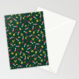fly agaric and autumn leaves Stationery Cards