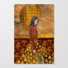 Woman in Red and Gold Canvas Print