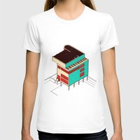 architecture T-shirts featuring Music & Architecture by Roland Lefox