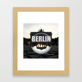 Brandenburg Gate sunset, Berlin Framed Art Print