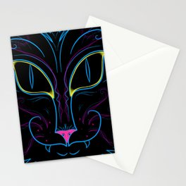 Neon Kitty Stationery Cards