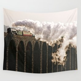60163 Tornado Steaming over Ribblehead Viaduct Wall Tapestry