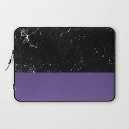 Ultra Violet Meets Black Marble #1 #decor #art #society6 Laptop Sleeve