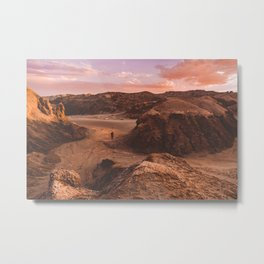Sunset in Valle De La Luna, Chile Metal Print
