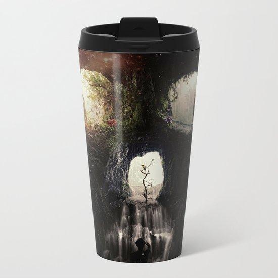 Cave Skull Metal Travel Mug