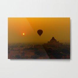 Bagan Sunrise - Myanmar (Burma) Metal Print