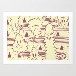 Cream Puff Art Print