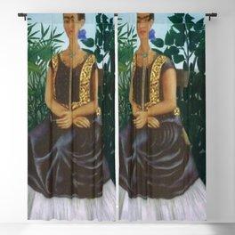 Casa Azul, Coyoacán, Mexico rainforest floral landscape painting Blackout Curtain