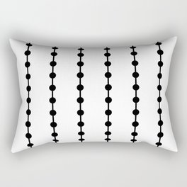 Geometric Droplets Pattern Linked Rectangular Pillow