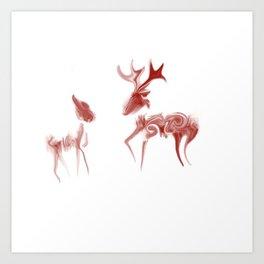 Java Deer Art Print