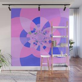 Lavender Purple Blue Kaleidoscope Wall Mural