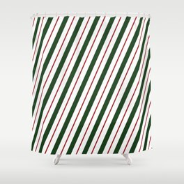 Peppermint Candy Cane Shower Curtain