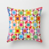 square Throw Pillows featuring Square by Helene Michau