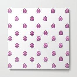 Spring - EASTER - Fuschia Eggs Metal Print