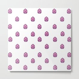 Spring - EASTER - Fuschia Eggs Metal Print