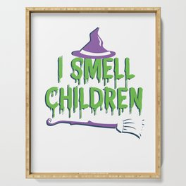 I Smell Children Spooky Halloween Witch Serving Tray