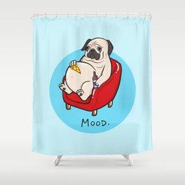Pug Mood Shower Curtain