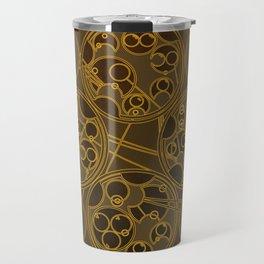 Tick-Tock Poem in Circular Gallifreyan Travel Mug