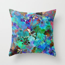 Hawaiian Jungle Batik Throw Pillow