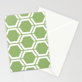 Olivine - green - Geometric Polygon Pattern Stationery Cards
