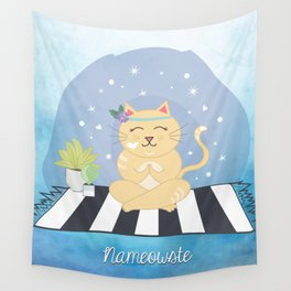 Nameowste Yoga Cat Wall Tapestry