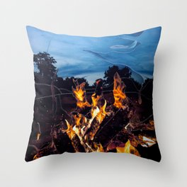 Campfire Throw Pillow