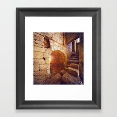 Le château des lucioles Framed Art Print