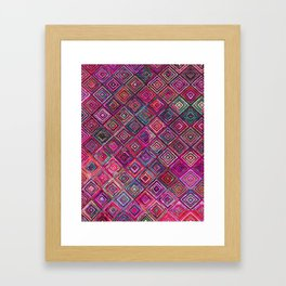 Traditional Anthropologie Oriental Moroccan Style Design Framed Art Print