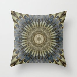 Stay cool floral mandala Throw Pillow