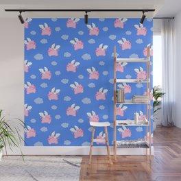 Flying Pigs Wall Mural