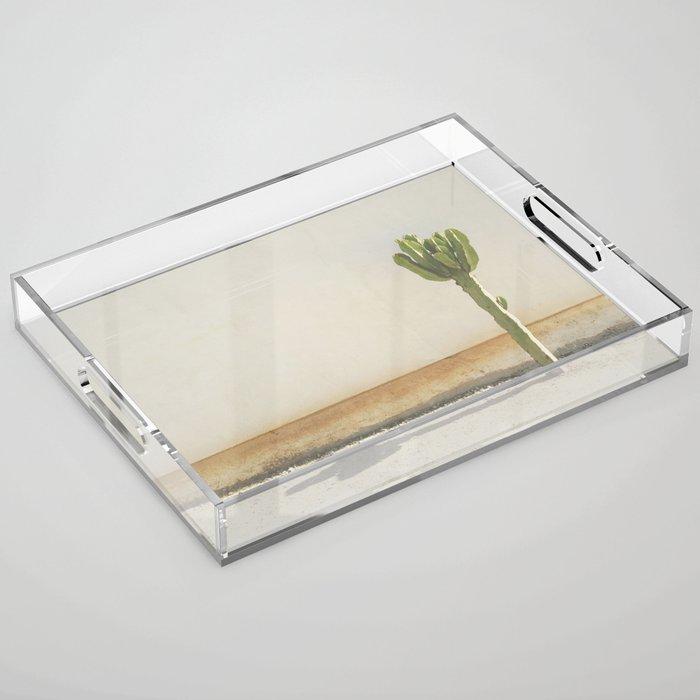 Cactus - Taupe Acrylic Tray