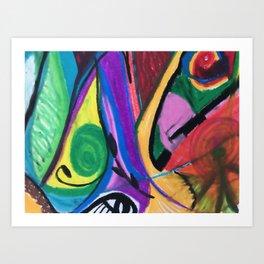 Friday Night - Energy Healing Art Print