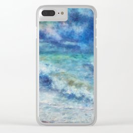 Colorful sea Clear iPhone Case