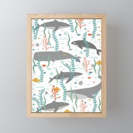Whales of the Sea Framed Mini Art Print