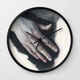 Watercolor study 03 Wall Clock