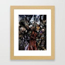 Caravans of Blood Pass Framed Art Print