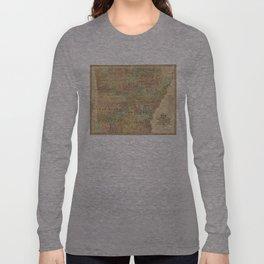 Vintage Map of Arkansas (1839) Long Sleeve T-shirt