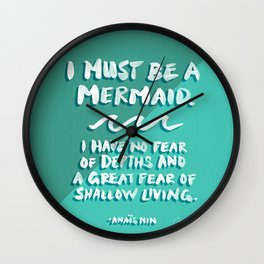 I Must Be A Mermaid – Emerald Palette Wall Clock