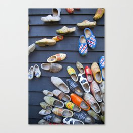 Wodden shoes Canvas Print