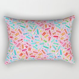 Rainbow Stationary and Art Supplies - Pink Rectangular Pillow