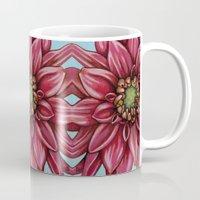 dahlia Mugs featuring Dahlia by Valerie Anderson Art