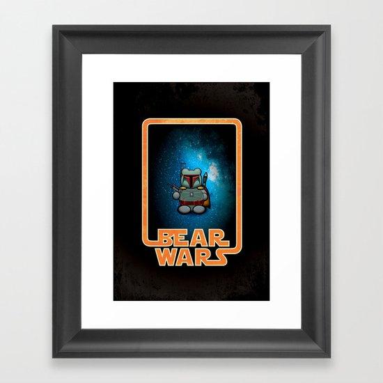 Bear Wars - Bobba Furry Framed Art Print