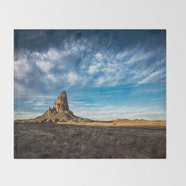 Somewhere In Time - Western Scenery of Agaltha Peak in Northern Arizona Throw Blanket