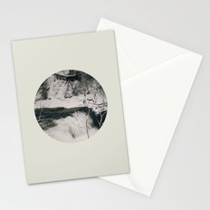 Winter Falls Circular Stationery Cards