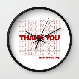 thankyou Wall Clock