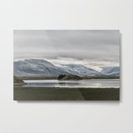 Mountains and Glaciers Iceland Metal Print