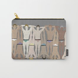 Sunbathers - Retro Male Swimmers Carry-All Pouch